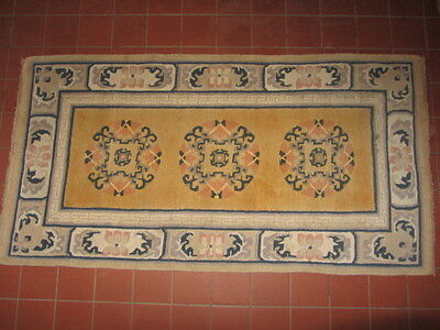 Vintage Chinese Wool Woven Rug