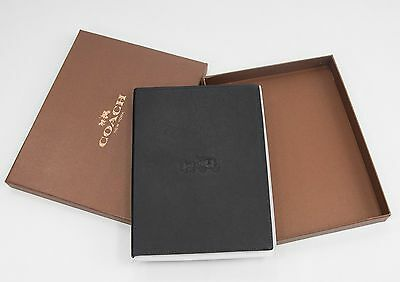 NWT Coach 63626 Dark Navy Blue Leather Lined Boxed Journal