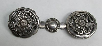 Wonderful Early Pinto Sterling Silver Belt Buckle