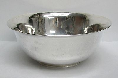 Exceptional Gebelein Sterling  Heavy Hand Planishing Centerpiece Bowl