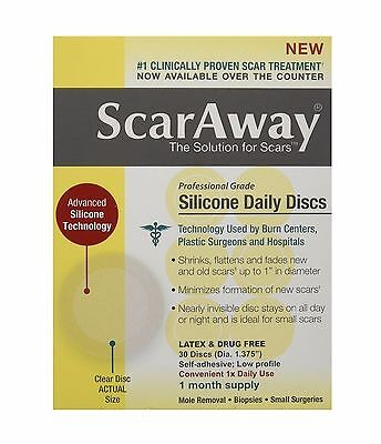 ScarAway Silicone Daily Discs Bandages, 30 Count (Open Box)