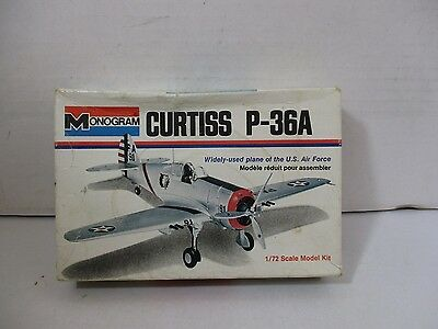 1/72 Scale Monogram Curtiss P-36A Model Kit