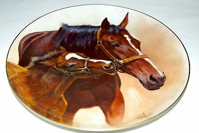 """Fred Stone Painting """"Patience"""" Plate Horse Racing Collectible 6739"""