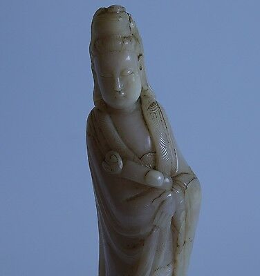 A Soapstone Figure Of Guanyin    18Th/19Th Century