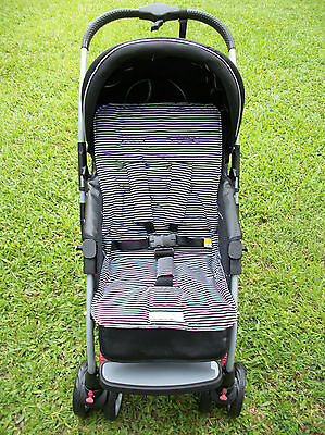 FUNKY BABYZ-Black Stripes universal pram/car seat liner-Size,Buy Covers option