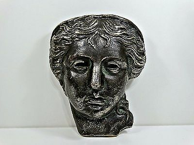 Antique Beautiful Attractive Heavy Bronze Face of Diana