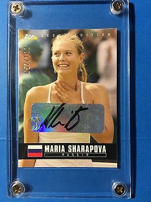 MARIA SHARAPOVA 2005 ACE DEBUT EDITION AUTOGRAPH 057/100 Tennis Card 01