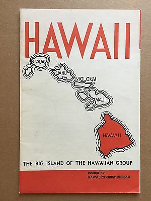 Original 1930's Map Group HAWAII Tourist Bureau Excellent! Hawaii