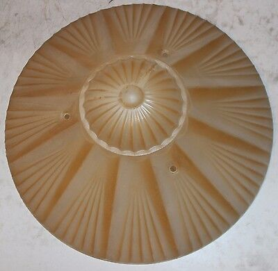Antique Vintage Deco Atomic Ray Glass Shade Ceiling Fixture Chandelier Light