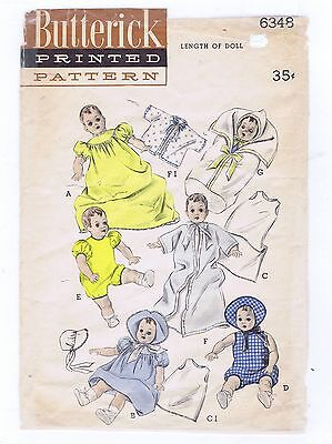"6348 Vintage Baby Doll Pattern - Size 14"" - Year 1948"