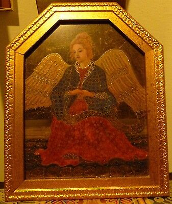 Gold Framed Gilded Angel Print Wall Art Decor Made in Canada