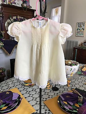 Feltman Brothers Vintage Infant Girls Embroidered Dress with Pin tucks sz 6M
