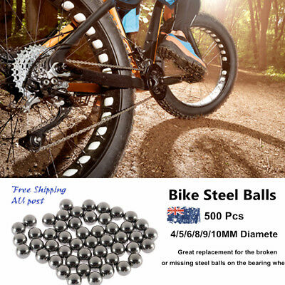 50/250/500PCS Replacement Parts 4/5/ 6/10mm Bike Bicycle Steel Ball Bearing A#