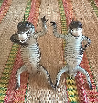 Lot Of 2 -45 cm Long Freshwater Crocodile Stuffed Taxidermy # PI 07