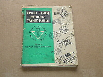 Air Cooled SMALL ENGINE REPAIR Mechanics Training Manual 1974 Course school