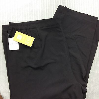 Women's Maggie Barnes Right Fit Stretch Elastic Waist Black Pants Size 10P Nwt
