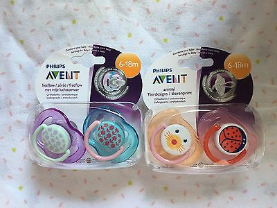 2 X 2 Pack Avent Dummy Soother 6-18months
