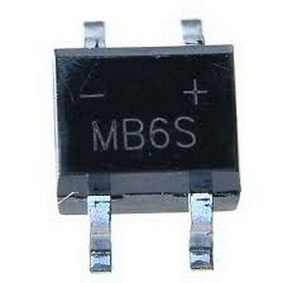 MB6S 0.5A 600V Miniature Mini SMD Bridge Rectifier,x100