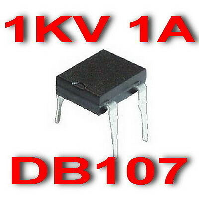 1 Amp 1kV Single-Phase Bridge Rectifier DB107,  x200PCS