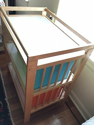 IKEA GULLIVER Birch Change Table With Storage Boxes