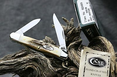 Case Xx Usa Genuine India Thick Stag Half Whittler Knife 5208 Ss 2001 Orig. Box