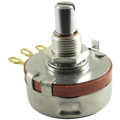 PEC Slotted Solid Shaft 2 Watt Potentiometer 250K Log/Audio