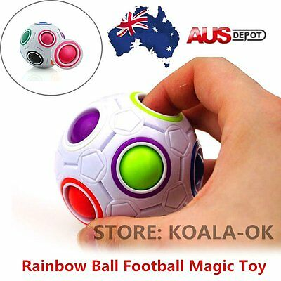 Educational Rainbow Ball Magic Cube Speed Twist Puzzle Intelligence Toys Gift A#