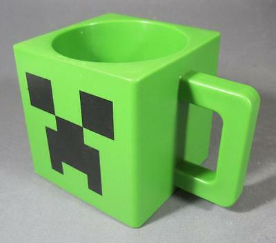 Green plastic MINECRAFT creeper face MUG collectable