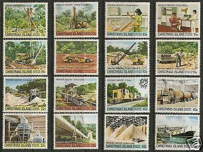 CHRISTMAS IS 1980 - 1981 PHOSPHATE INDUSTRY Complete Series Set 16v MNH