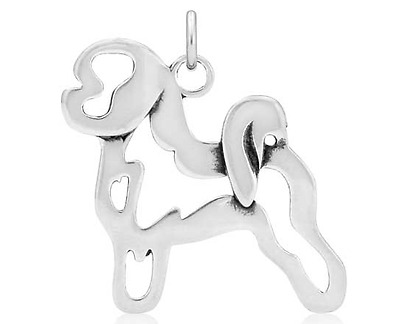 Sterling Silver Bichon Frise Pendant, Body Made In Usa