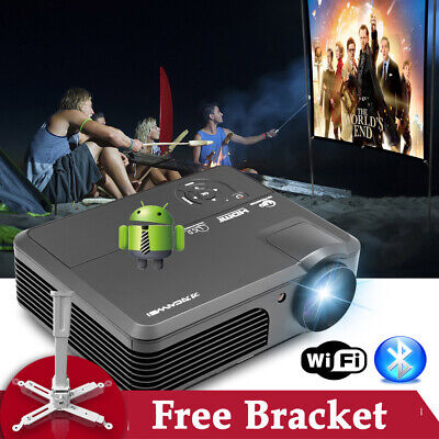 LED LCD Home Theater Projector Android Wifi Bluetooth HD HDMI USB VGA TV 1080p