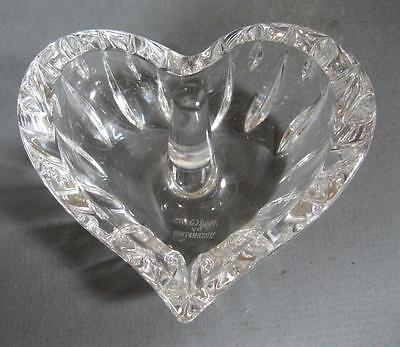 Waterford Marquis crystal/glass ring holder heart shape-dressing table
