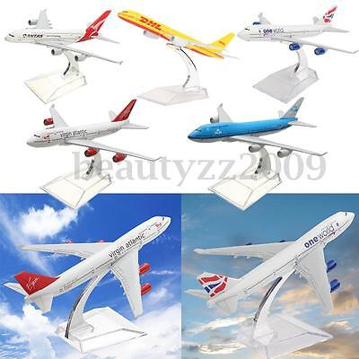 5 Type Planes Model Diecast Aircraft Models Airlines Kit Kid Toy Adult Xmas Gift