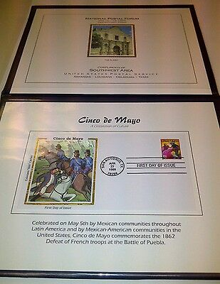 Stamp Collection The Alamo & Cinco De Mayo San Antonio Postal 1st day of issue