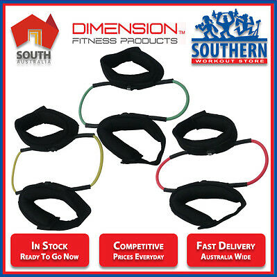 Ankle Resistance Bands Tubes Dimension Fitness Strength Balance Home Workout