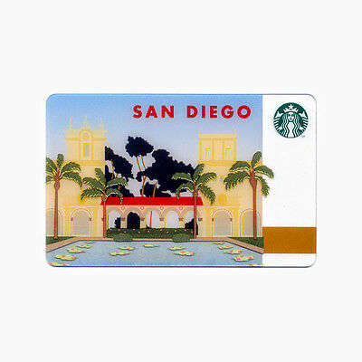 Lot of 5 San Diego (2013) California Tourist Collectible Starbucks Gift Cards