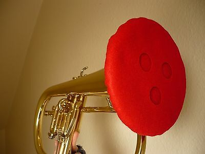 FLUGEL Felt Mute - Vented Double Thickness Red Lining (Flugelhorn)
