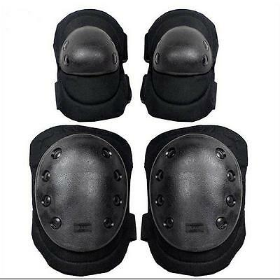 Tactical Elbow Knee Pads Set Protective Gear Set for Skateboard Skating Cycling