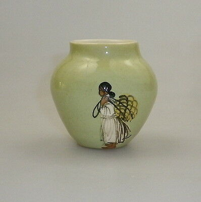 Martin Boyd Handpainted Vase Depicting An Islander Collecting Coconuts