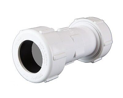 "NEW PVC Compression Coupling 40mm (1 1/2"")"