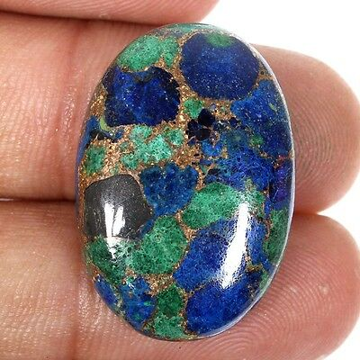 Charming 28 Cts AZURITE Copper Mohave Oval Gemstone For Ring 26x18 mm s-30772