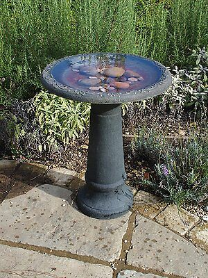 Wildlife World Coniston Bird Bath Durable Stone effect with Tall Stem
