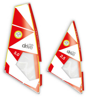 North Sails Windsurf Segel Drive Cloth C01-white-red 2017