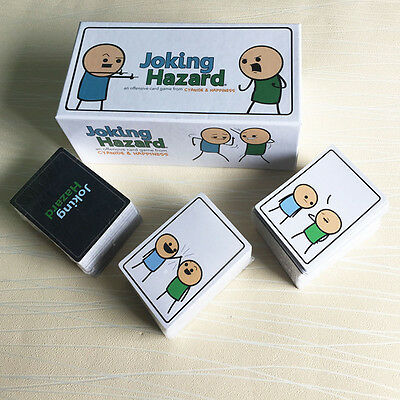 Joking Hazard Game Card Party Kickstarter Cyanide and Happiness Box Edition New