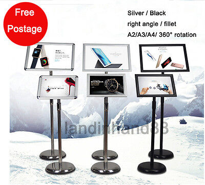 A2 / A3 / A4 Poster Stand Metal Foyer Pedestal Sign Holder Business Menu Display