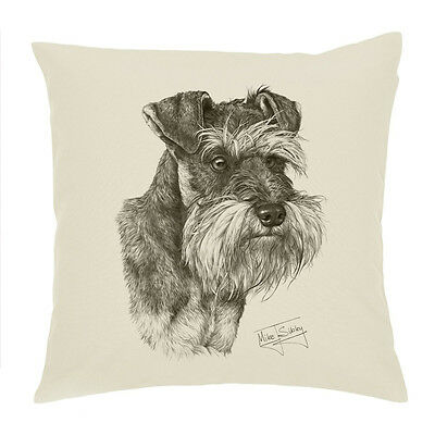 """Mike Sibley Whippet Dog Breed Cotton Drill Cushion Cover Cushion 18/""""x18/"""" Gift"""