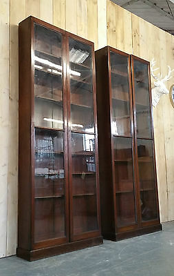 Vintage Glazed Bookcases Shop Display Haberdashery Industrial Apothercary
