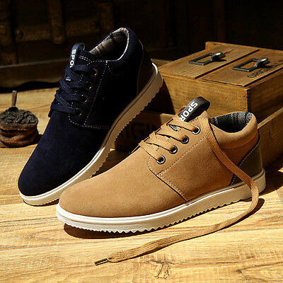 2017 FASHION Men's Casual Sports shoes Suede Sneakers Breathable Running Shoes