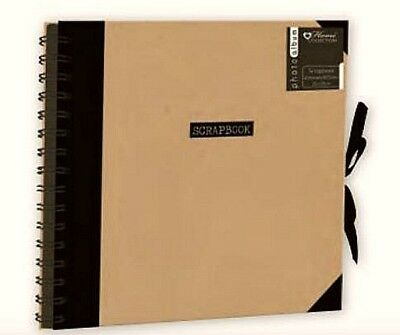 "BLACK Scrapbook Hobby Craft Travel Spiral 10""x10"" Album Memory Photo kids adults"