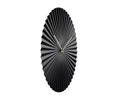 Karlsson Wall Clock Sensu Large In Black With Gold Hands